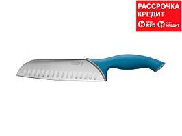 """Нож LEGIONER """"ITALICA"""" """"Сантоку"""", эргономичная рукоятка, лезвие из нержавеющей стали, 190мм (47966)"""