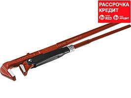ЗУБР Мастер-90, №2, ключ трубный, прямые губки (27314-2)
