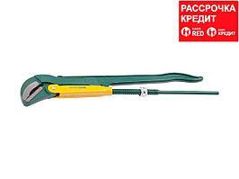 KRAFTOOL PANZER-V, №4, ключ трубный, изогнутые губки (2735-30_z01)