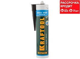 """Герметик KRAFTOOL KRAFTSeal GX107 """"AQUA STOP"""" силиконовый стекольный, черный, 300мл (41256-4)"""