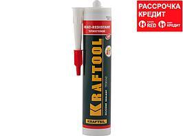 Герметик силиконовый KRAFTOOL красный, температуростойкий (от -62 С до 275 С), 300мл (41259)