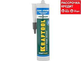 Клей монтажный KRAFTOOL KraftNails Premium KN-601T, суперсильный, прозрачный, 310мл (41342)