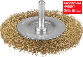 Щетка дисковая для дрели, стальная со шпилькой, 100мм (3517-100)