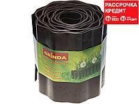 Лента бордюрная Grinda, цвет коричневый, 20см х 9 м (422247-20)