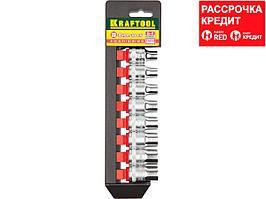 KRAFTOOL SUPER-LOCK Набор торцовых головок на рельсе, 8 шт. (27863-H8_z01)