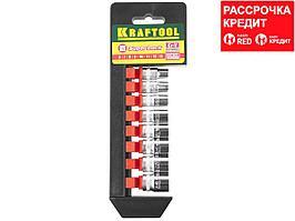 KRAFTOOL SUPER-LOCK Набор торцовых головок на рельсе, 8 шт. (27860-H8_z01)