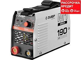 Сварочный аппарат инвертор ЗУБР ЗАС-М1-190, МАСТЕР, М1, 190А, MMA, IGBT, ПВ 30%, принуд обдув, работа от генератора, 1*220В (мин 180В)