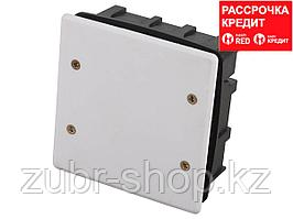 Коробка монтажная СВЕТОЗАР для подштукатурного монтажа, макс. напряжение 400В, с крышкой, 100х100х50мм, квадратная (SV-54927)