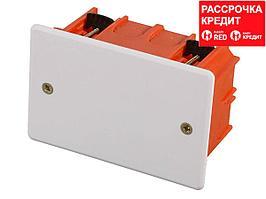 Коробка монтажная СВЕТОЗАР для полых стен, макс. напряжение 400В, с крышкой, 100х60х50мм, прямоугольная (SV-54935)
