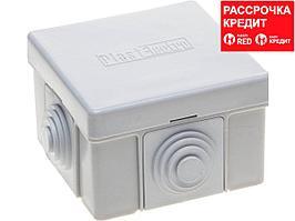 Коробка распределительная СВЕТОЗАР для наружного монтажа, макс. напряжение 400В, IP 54, 4 ввода, 65х65х40мм (SV-54954)
