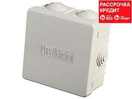 Коробка распределительная СВЕТОЗАР для наружного монтажа, макс. напряжение 400В, IP 54, 6 вводов, 85х85х40мм (SV-54956)