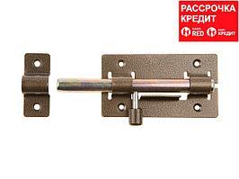 """Задвижка накладная """"ЗД-01"""" для дверей, корпус-порошковое покрыт/стержень-покрыт цинк, бронза, круг засов 14мм,"""