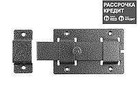 """Задвижка накладная""""ЗД-02""""для дверей усиленная, порошковое покрытие, цвет серебро, плоский засов 30х135х7мм, 75х115мм (37776-2)"""
