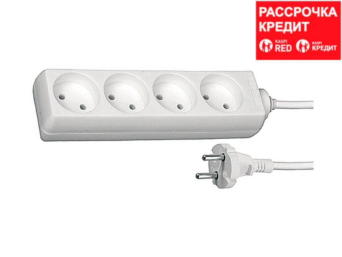 Удлинитель электрический СВЕТОЗАР, 4 гнезда, 3м, SV-55040-3
