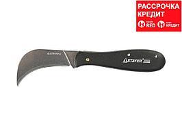 """Нож STAYER """"PROFI"""" складной, для листовых материалов, 200мм (09291)"""