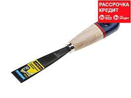 """Шпательная лопатка STAYER """"PROFI"""" c нержавеющим полотном, деревянная ручка, 30мм (10012-030)"""