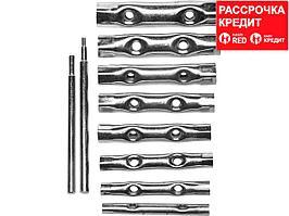 Набор DEXX: Ключи трубчатые, 6-22мм, 10 предметов (27192-H10)