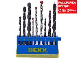 DEXX по металлу d 4-6-8мм, по дереву d 4-6-8мм, по кирпичу d 4-6-8мм, сверла комбинированные (2970-H9_z01)