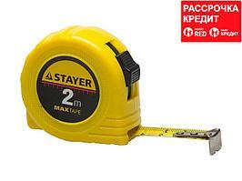 STAYER MaxTape 2м / 16мм рулетка в ударопрочном корпусе из ABS (34014-02-16)