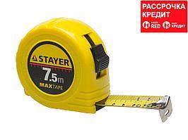 STAYER MaxTape 7.5м / 25мм рулетка в ударопрочном корпусе из ABS (34014-07-25)