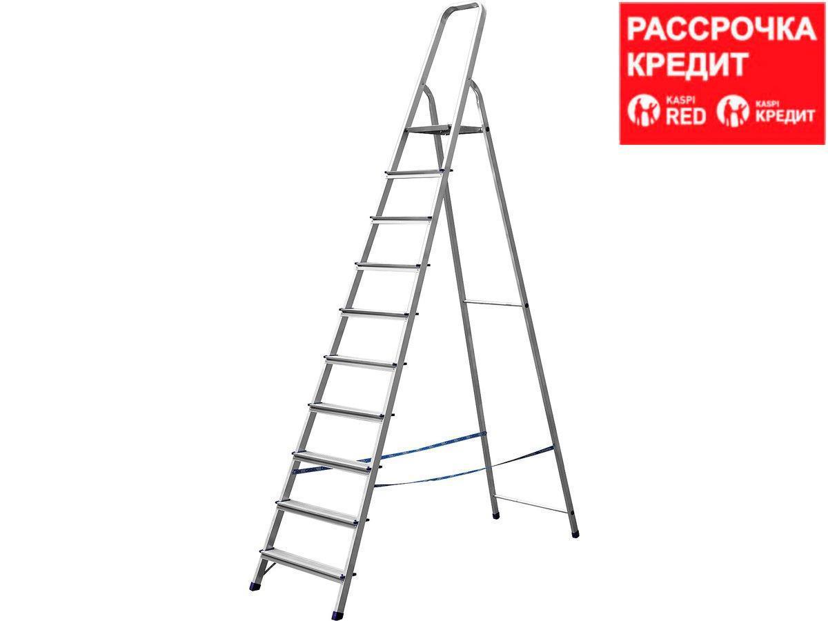Лестница-стремянка СИБИН алюминиевая, 10 ступеней, 208 см (38801-10)
