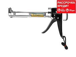 KRAFTOOL полукорпусной пистолет для герметика Professional, хромированный, 320 мл. (06671_z01)