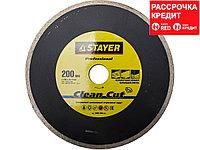 Алмазный диск отрезной STAYER 3665-200_z01, PROFI, сплошной, влажная резка, для электроплиткореза, 25,4 х 200 мм