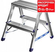 Лестница-стремянка двухсторонняя алюминиевая, СИБИН 38825-03, 3 ступени (38825-03)