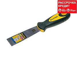 Шпательная лопатка KRAFTOOL с 2-компонент ручк, профилиров нержав полотно, 32мм (10035-030)
