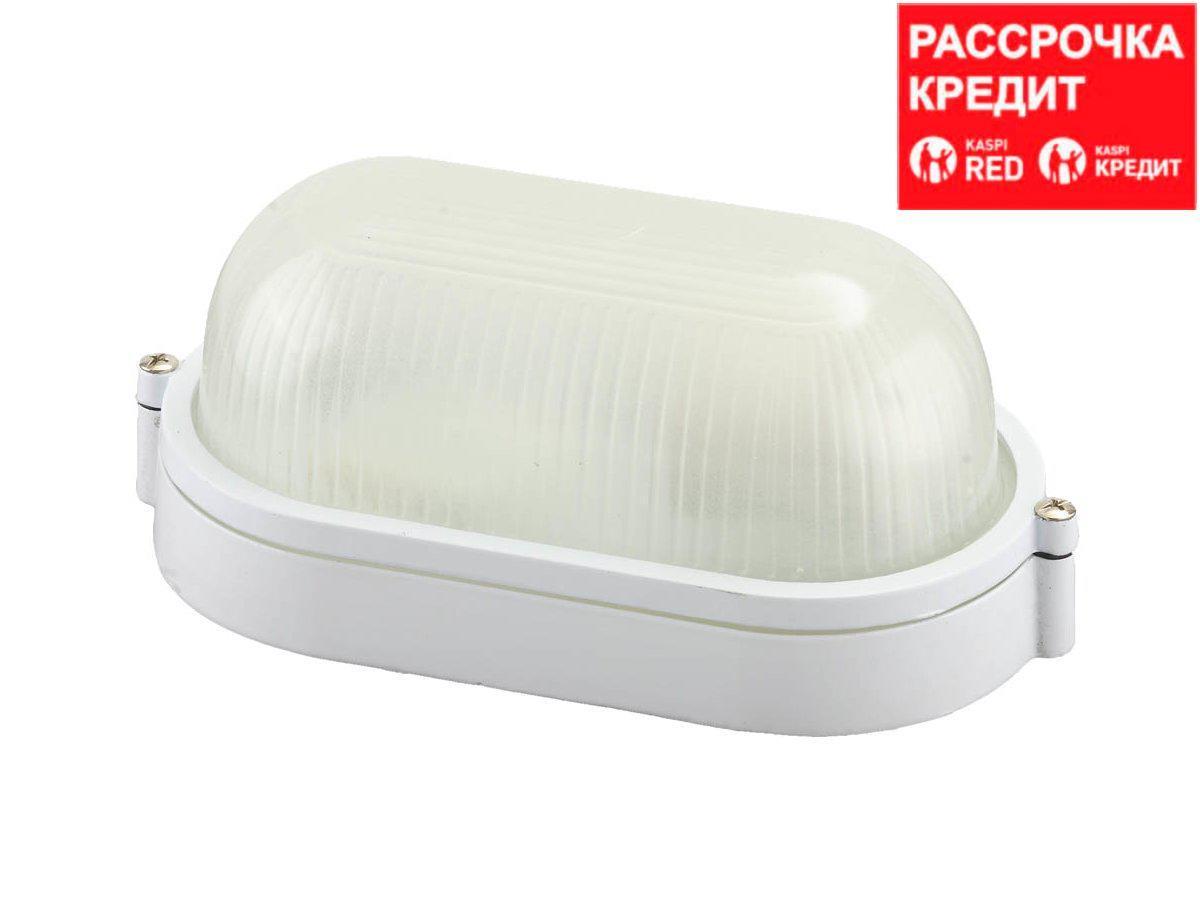 Светильник уличный СВЕТОЗАР влагозащищенный, овал, цвет белый, 60Вт (SV-57201-W)