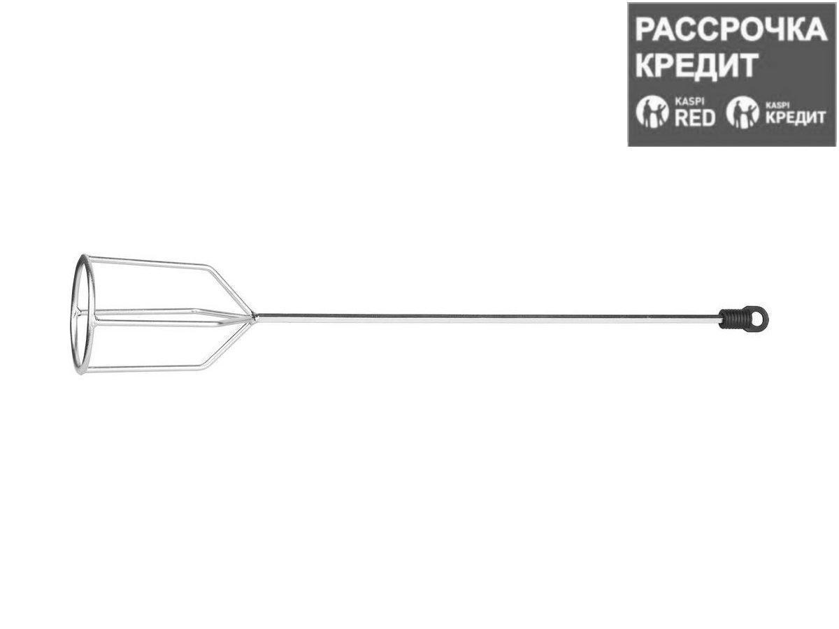 """Миксер STAYER """"MASTER"""" для гипсовых смесей и наливных полов, шестигранный хвостовик, оцинкованный, 80х530мм (06010-08-53)"""
