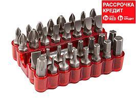 Набор: Биты с магнитным адаптером, хромованадиевая сталь, 33 предмета, ЗУБР (26045-H33)