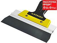 ProFlat фасадный шпатель анодированный 200 мм, 2к ручка, STAYER (10045-20)