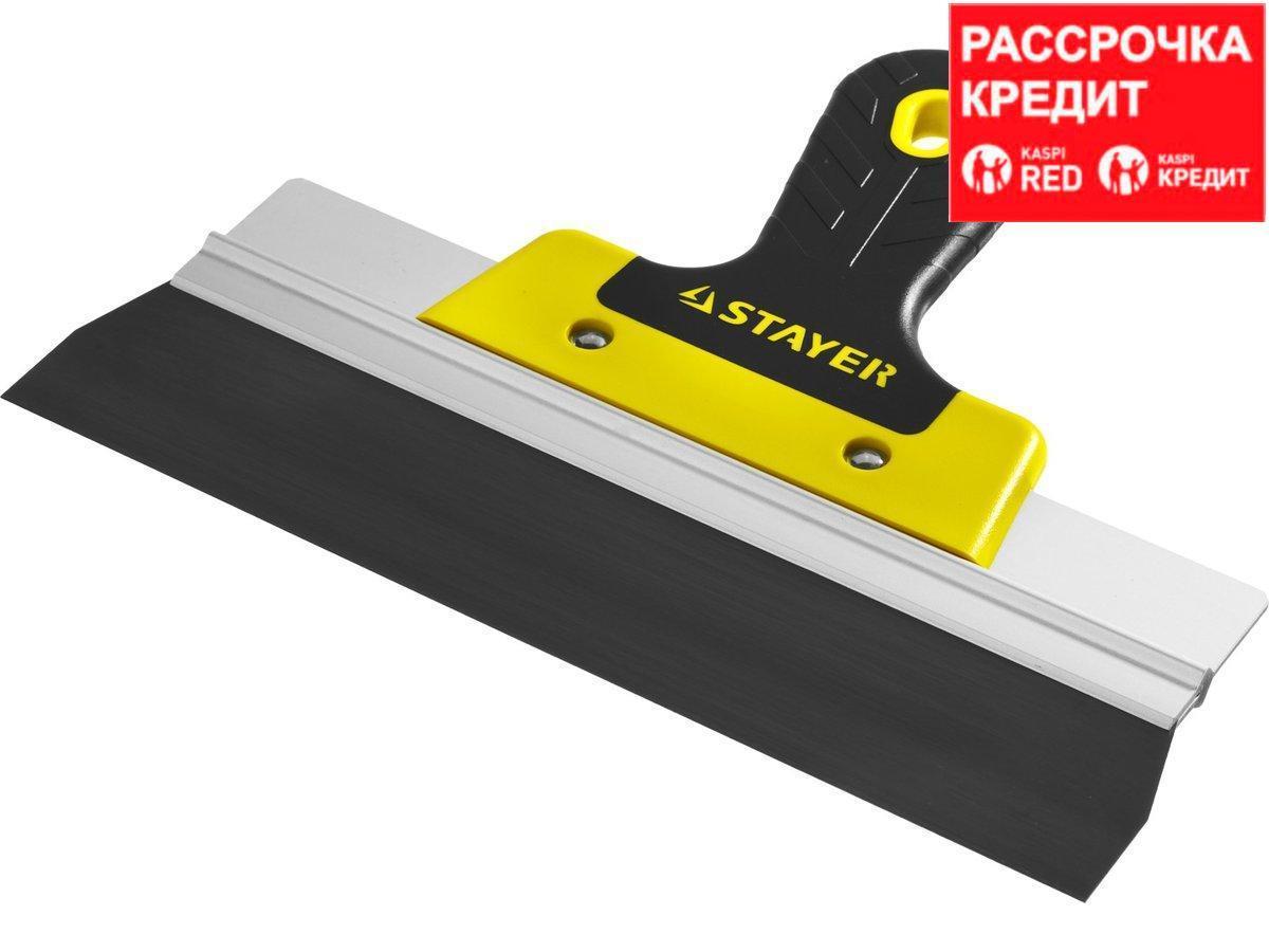 ProFlat фасадный шпатель анодированный 250 мм, 2к ручка, STAYER (10045-25)