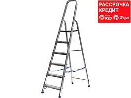 Лестница-стремянка СИБИН алюминиевая, 6 ступеней, 124 см (38801-6)