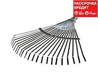 Грабли веерные RACO регулируемые, 22 плоских зубца, гальванизир. покр., 300-450мм (4231-53/733)