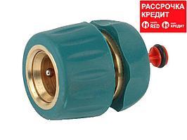 """RACO """"PROFI-PLUS"""" 1/2"""", с автостопом, cоединитель быстросъемныq для шланга, из латуни с TPR (4244-55105B)"""
