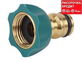 """RACO """"PROFI-PLUS"""" 1/2"""", адаптер штуцерный, с внутренней резьбой, из латуни с TPR (4244-55110B)"""