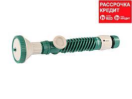 """RACO 418C 4 режима, с вентилем, наконечник поливочный пластиковый, с соединителем 1/2"""" (4255-55/418C)"""
