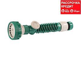 """RACO 421C 5 режимов, с вентилем, наконечник поливочный пластиковый, с соединителем 1/2"""" (4255-55/421C)"""