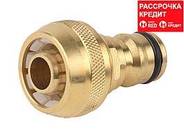 """RACO PROFI соединитель - шланг 1/2"""", переходник штуцерный, из латуни (4246-55024B)"""