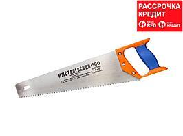 """Ножовка """"ИЖ"""" """"ПРЕМИУМ"""" по дереву с двухкомпонентной пластиковой рукояткой, шаг 4мм, 400мм (1520-40-04_z01)"""