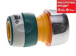 """RACO PROFI-PLUS 3/4"""", с автостопом, соединитель быстросъемный для шланга, из металла с TPR (4247-55096B)"""