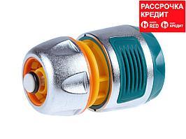 """RACO PROFI-PLUS 1/2"""", с автостопом, соединитель усиленный быстросъемный для шланга, из металла с TPR (4247-55098B)"""