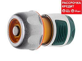 """RACO PROFI-PLUS 3/4"""", с автостопом, соединитель усиленный быстросъемный для шланга, из металла с TPR (4247-55100B)"""
