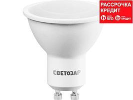 Лампа светодиодная, СВЕТОЗАР, LED technology, цоколь GU10, теплый белый свет (3000К), 220В, 5Вт (35), 44560-35_z01