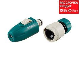 """RACO 378B плавная регулировка, мини наконечник поливочный, пластиковый, с соединителем 1/2"""" (4255-55378B)"""