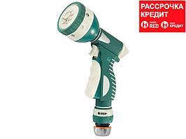 """RACO 341C 8 режимов, пистолет поливочный металлический с TPR, с соединителем 1/2"""" (4256-55/341C)"""
