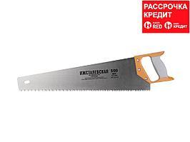 """Ножовка """"ИЖ"""" """"ПРЕМИУМ"""" по дереву с двухкомпонентной пластиковой рукояткой, шаг 6,5мм, 500мм (1520-50-06_z01)"""