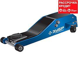 ЗУБР X85 2.5т, 75-515мм подкатной домкрат гидравлический универсальный для СТО, Профессионал (43051-3_z01)